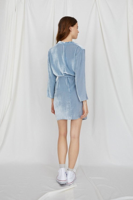 Maé blue velvet dress